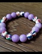 Bransoletka z fioletowych koralików