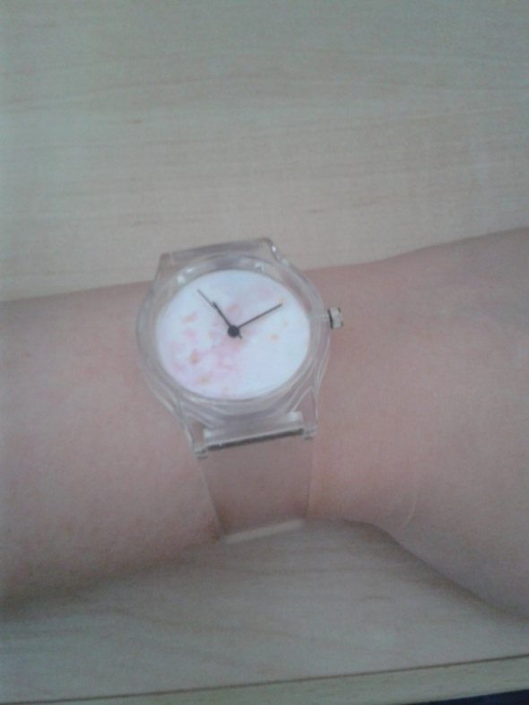 Zegarek silikonowy przezroczysty przezroczyste paski tarcza kwiaty nowy
