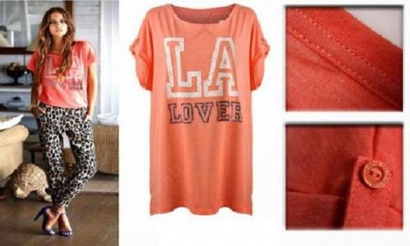 Bluzka TUNIKA BY H&M MOTYW LA LOVER ROZM S