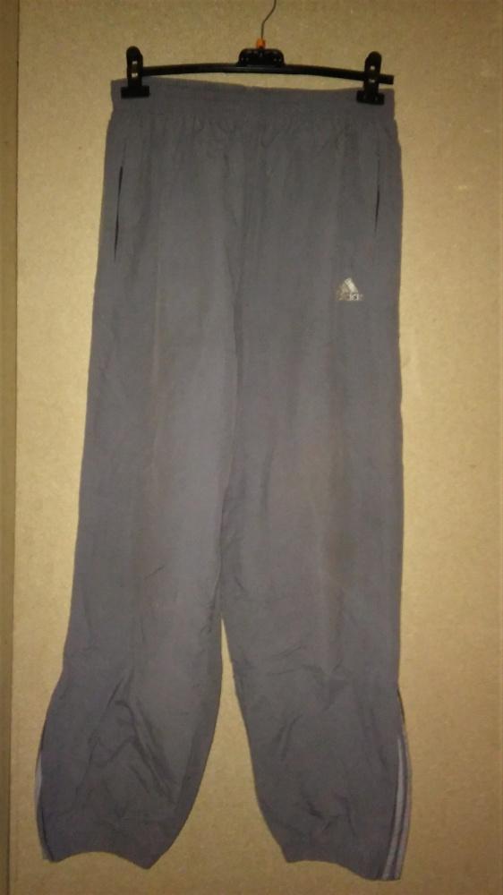 Adidas Szare spodnie sportowe z podszewką 44 46