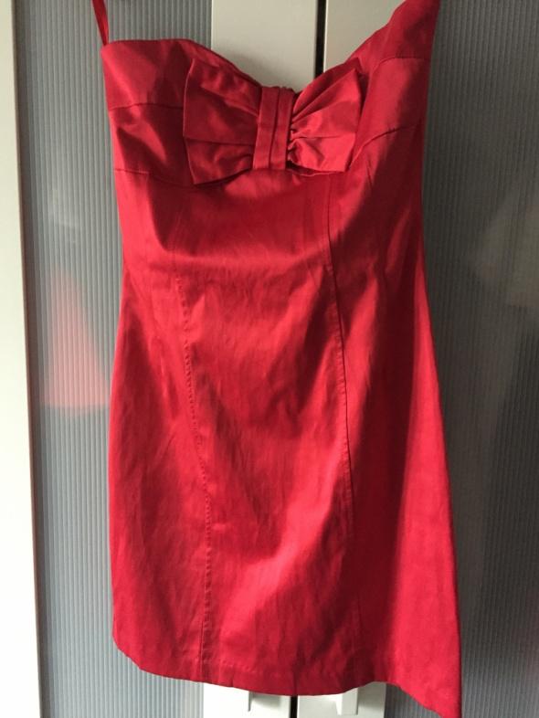 Czerwona sukienka XS Nowa Gorset