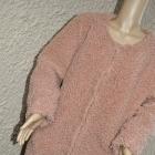 Płaszcz baranek pudrowy róż 40 42