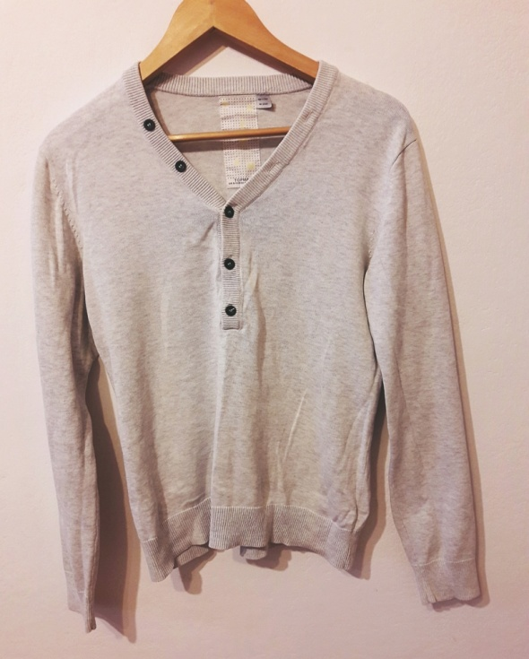 Męski sweter szarybeżowy