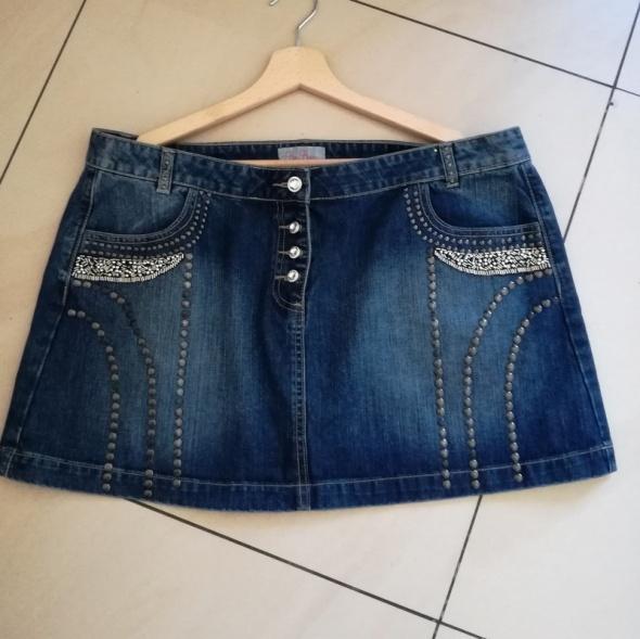 Krótka jeansowa spódnica 18 46