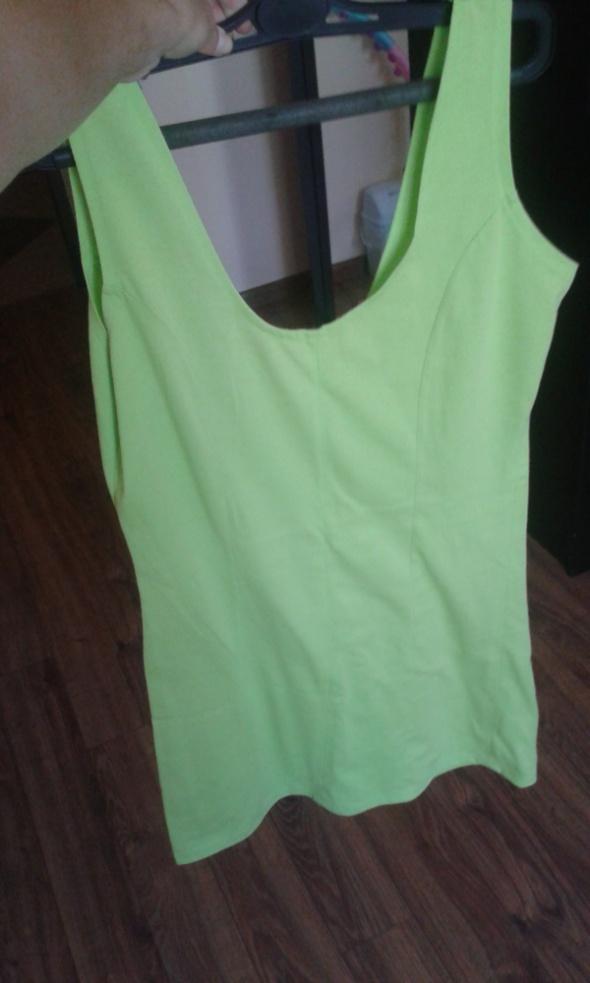 Limonkowa sukienka rozmiar M