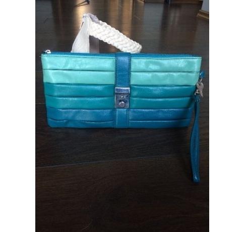Torebka kopertówka turkusowa niebieska