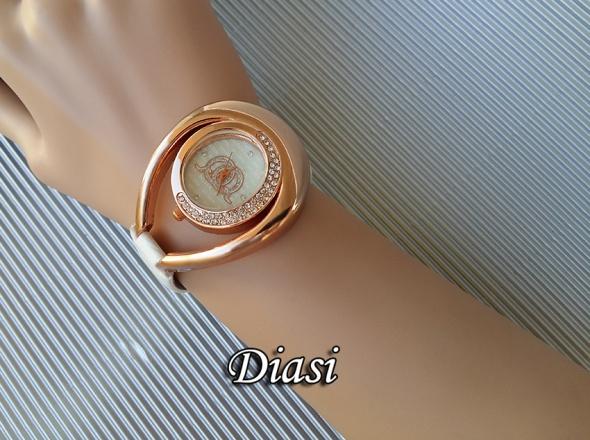 Damski zegarek złota koperta cyrkonie nowy