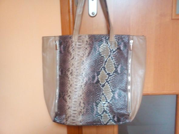 torebka shopper bag skóra wężowa