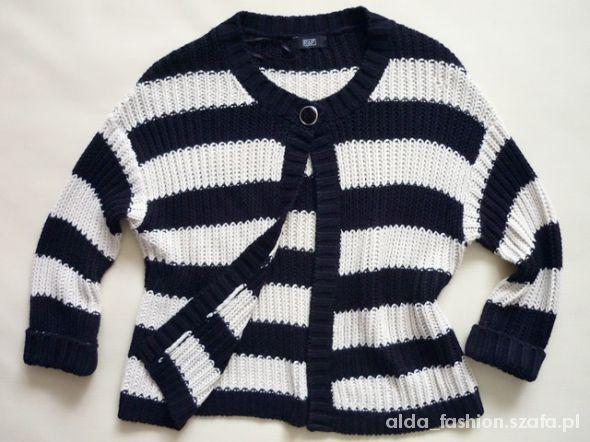 F&F sweter w pasy MARINE 38 40