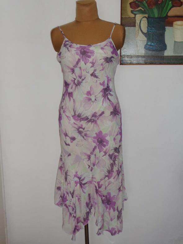 PER UNA śliczna sukienka KWIATY 42