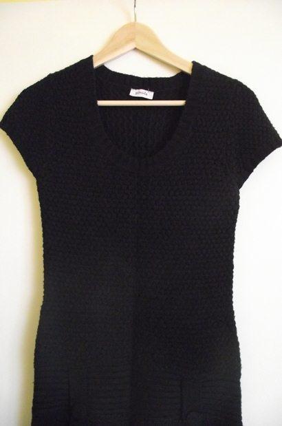 Suknie i sukienki Sukienka tunika Pimkie czarna sweterkowa 36 38