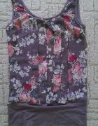 Bluzka tunika w kwiaty floral nowa bez metki 36 S...