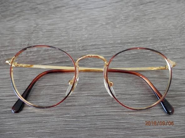 Okulary Oprawki Okularowe Owalne Włoskie Lennonki ZłotoMiedziane Metalowe Lekkie Rolling