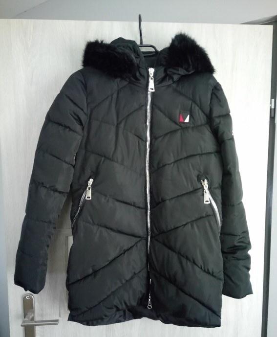 puchowa zimowa kurtka