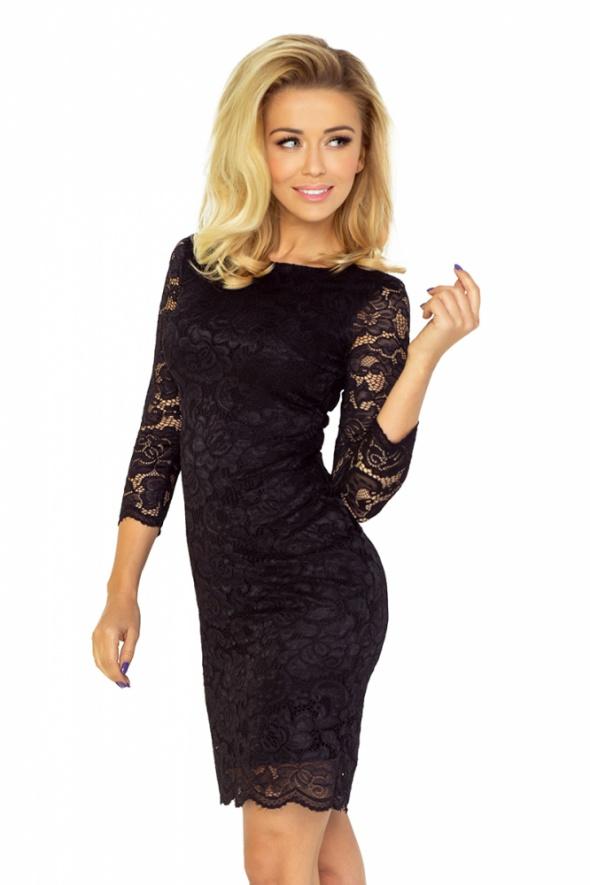 śliczna sukienka KORONKOWA czarna L 40