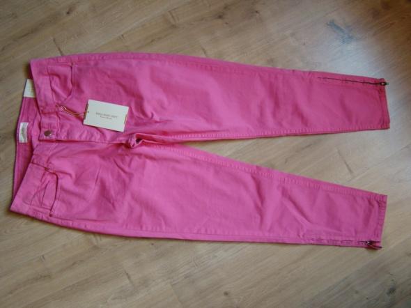 Zara Basic rurki jeansy różowe fuksja zamki M L...