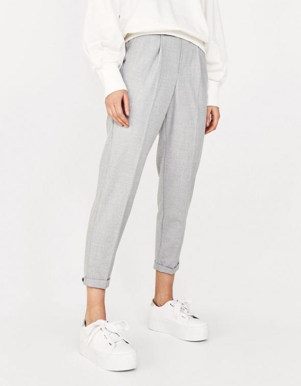 spodnie w kant szare