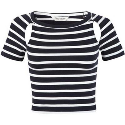 marynarska bluzka z wycięciami miss selfridge w paseczki...