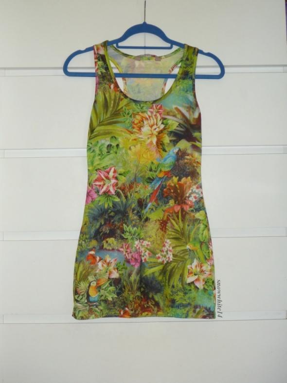 tunika mini sukienka jungle print tropiki...