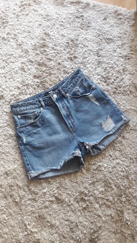 Krótkie spodenki jeansowe szorty BIK BOK 38 wysoki stan...