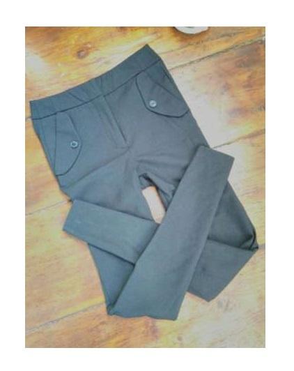 Czarne eleganckie spodnie rurki s wysoki stan