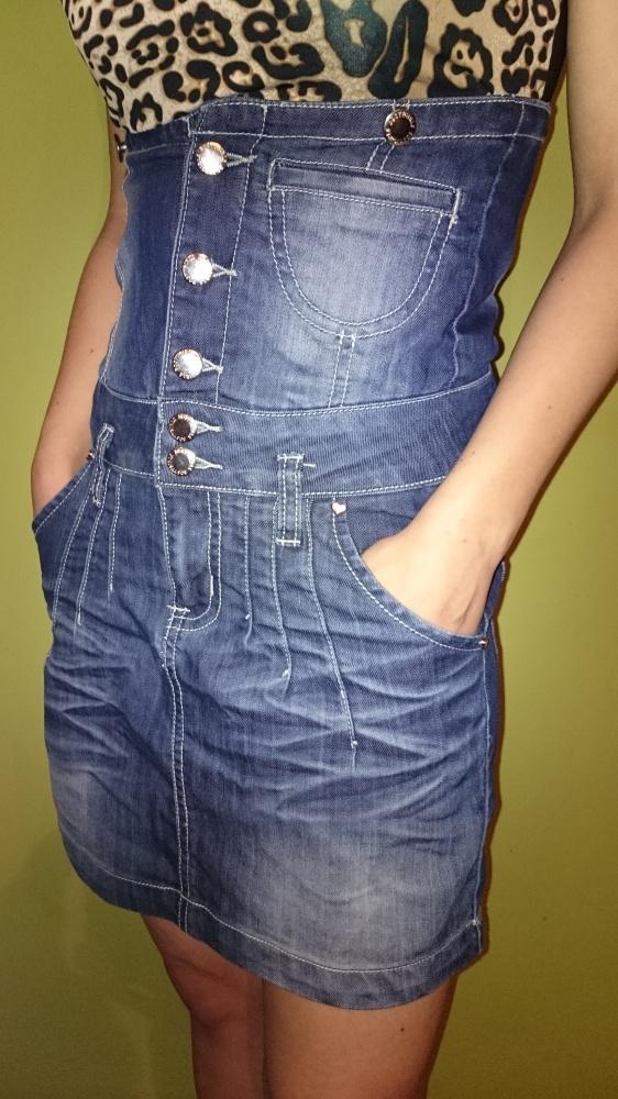 Spódnica jeansowa z wyższym stanem...