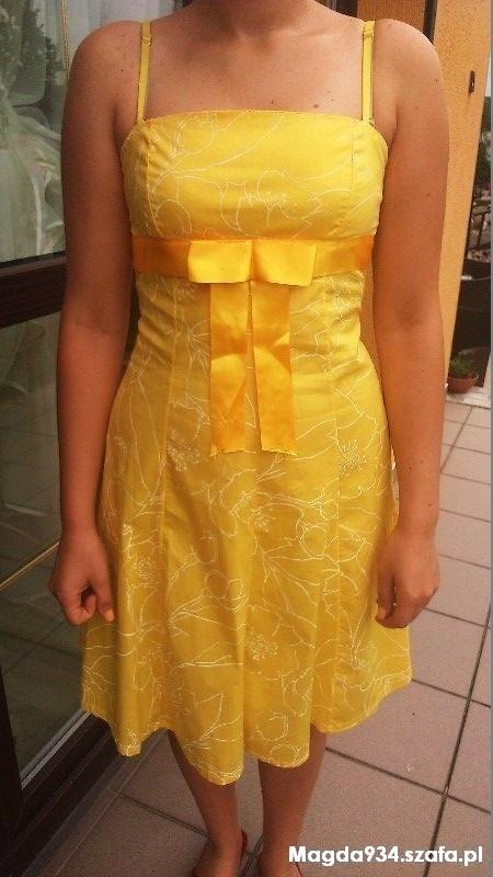 sukienka letnia s żółta