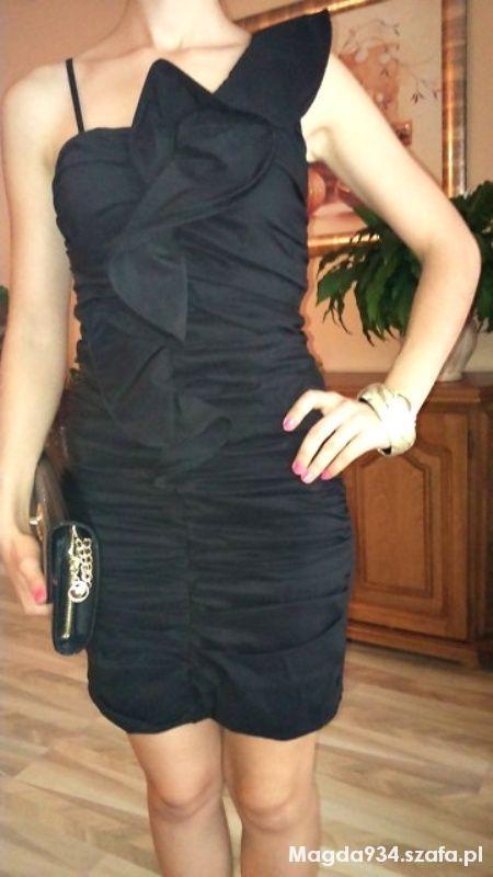 elegancka sukienka na jeden bok