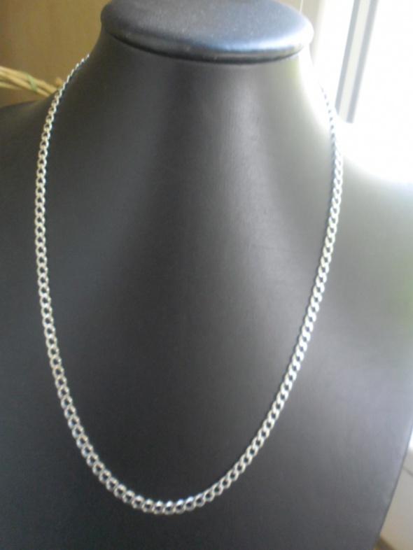 Srebrny nowy masywny łańcuszek pancerka 16 gramów 58 cm