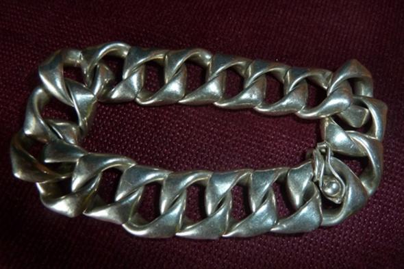 bransoleta srebrna duże ogniwa