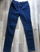 Granatowe jeansowe tregginsy 40 L