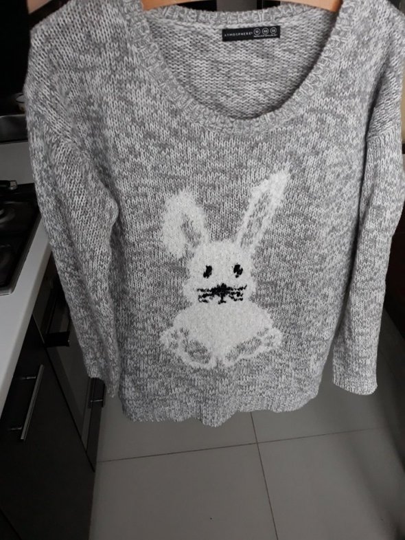 Sweterek szary melanż 40