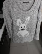 Sweterek szary melanż 40...