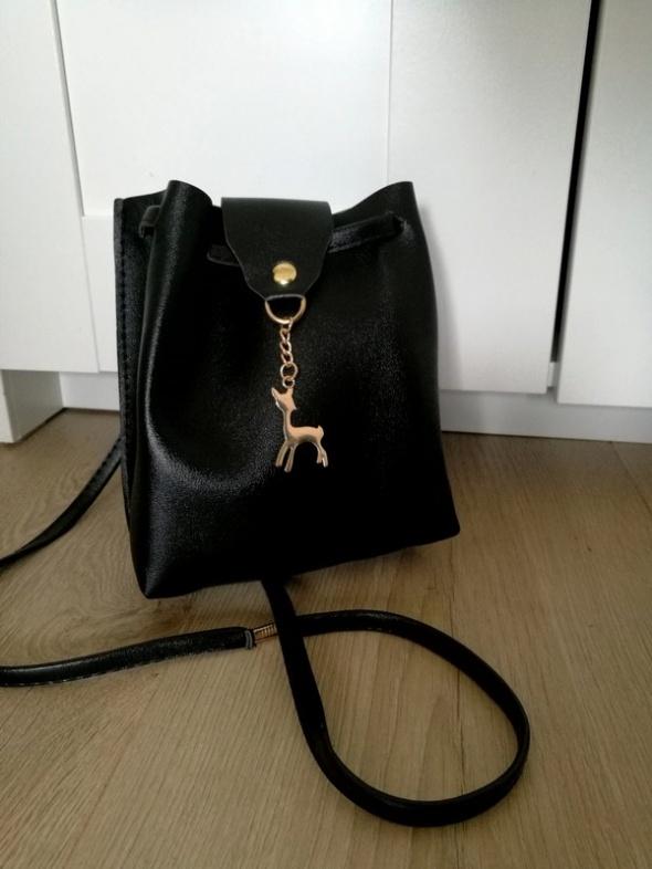 Nowa czarna torebka worek