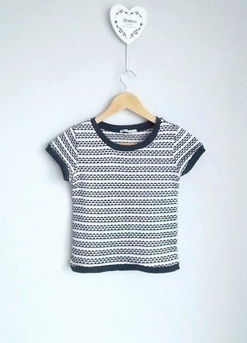ZARA sweterek z krótkim rękawem
