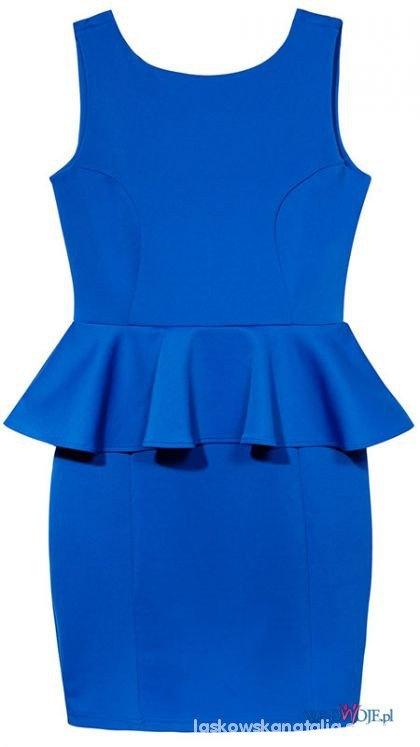 Przepiękna niebieska sukienka rozmiar 42 Darmowa wysyłka...