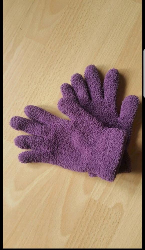 Milutkie fioletowe rękawiczki