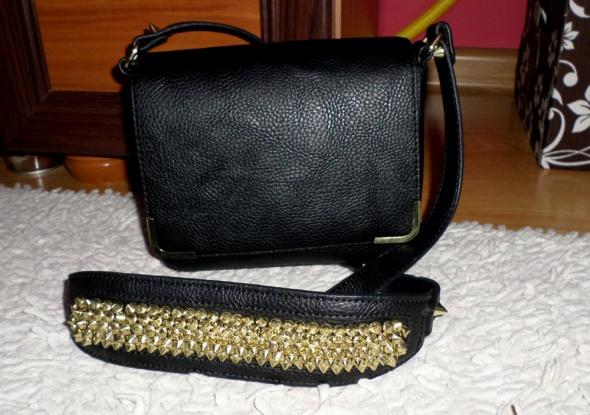 Cudna mała torebka H&M złote dodatki