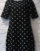 Sukienka czarna w białej kropki XS...