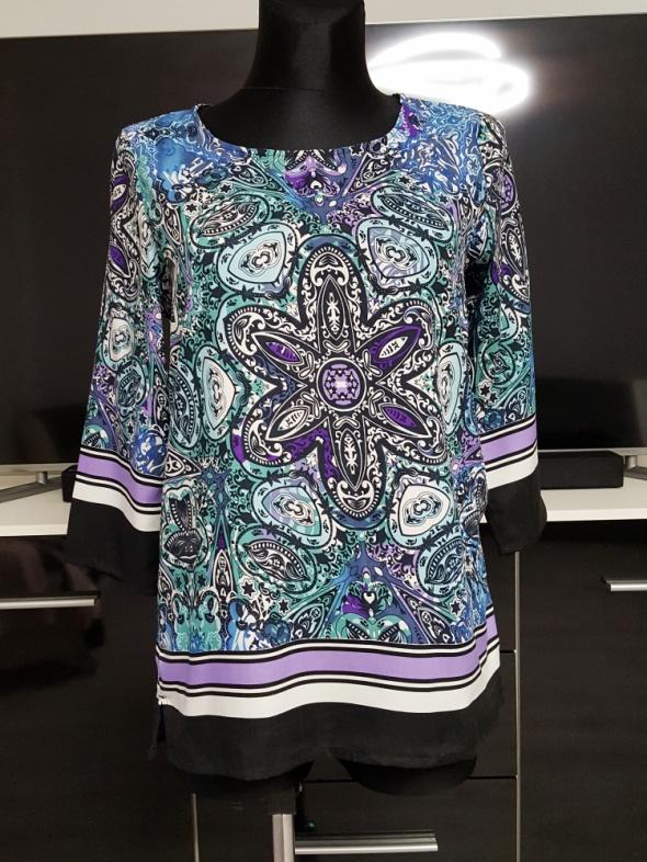 kolorowa bluzka w wzory Janina
