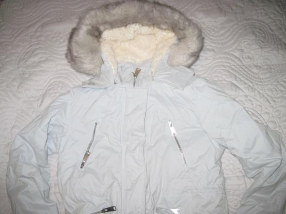 Reserved płaszcz zimowy 36 38 jak nowy jasnoniebieski