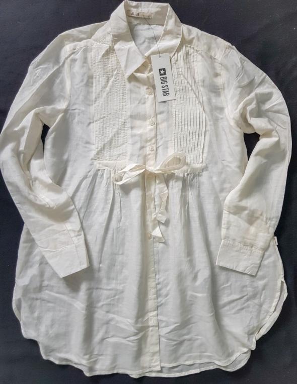 Nowa biała koszula Big star oversize M...