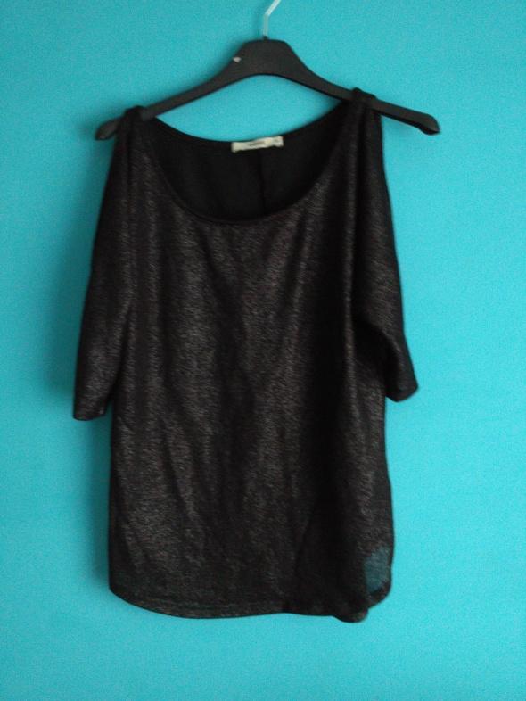 Czarna bluzka z odkrytymi ramionami oasis xs...