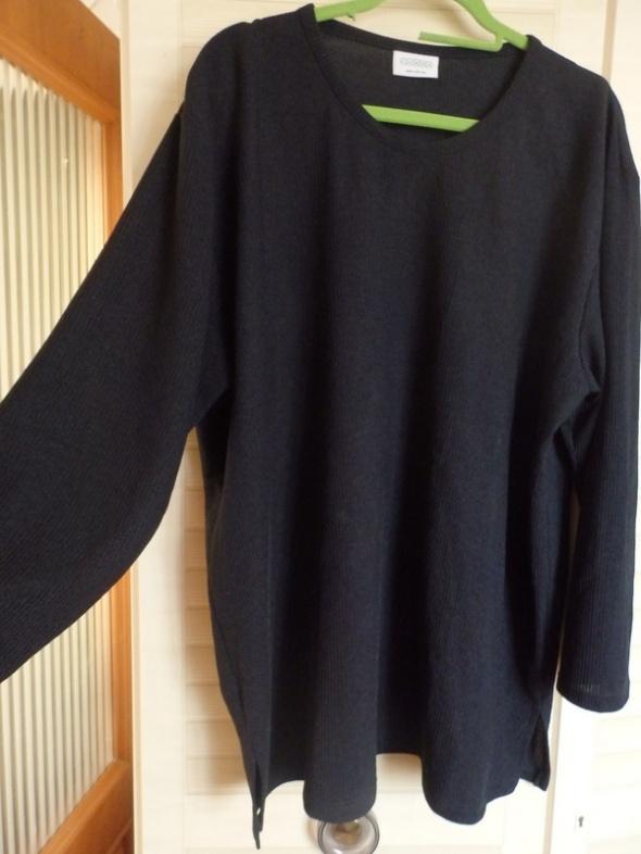 czarna prosta bluza 48 50