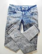 jasne jeansy spodnie marmurki rozm 34