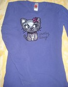 Fioletow bluzeczka z kotkiem 158 164...