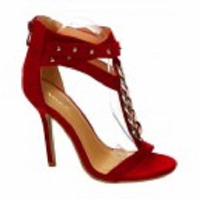 Szpilki sandałki jak Zanotti czerwone łańcuch 37