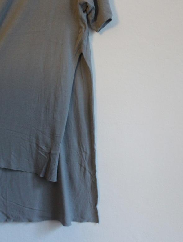 Bluzki Szara długa bluzka