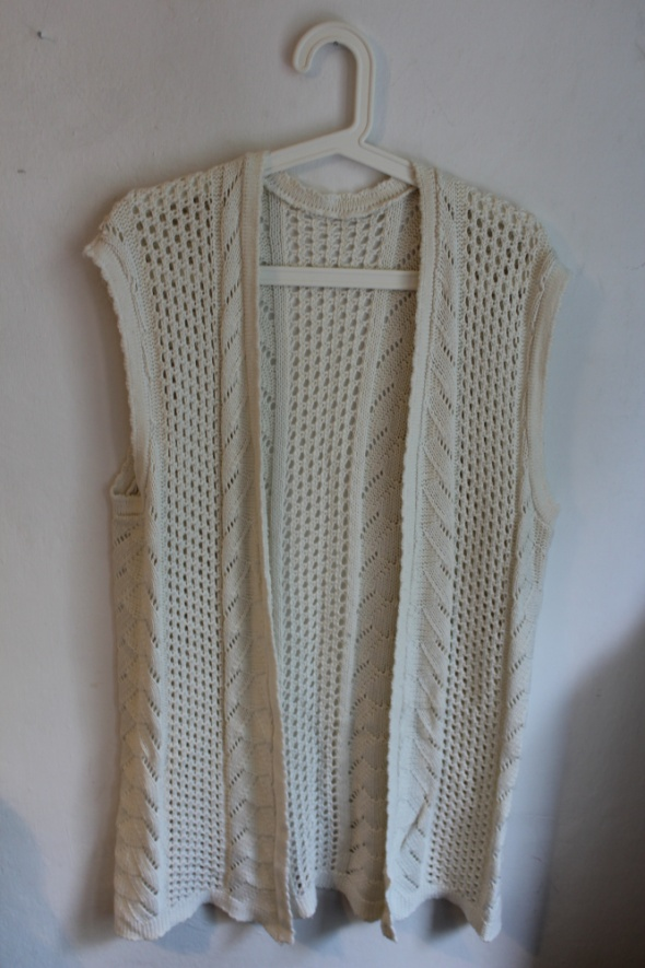 Swetry Biały ecru sweterek kamizelka