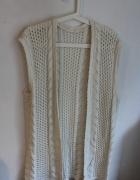 Biały ecru sweterek kamizelka